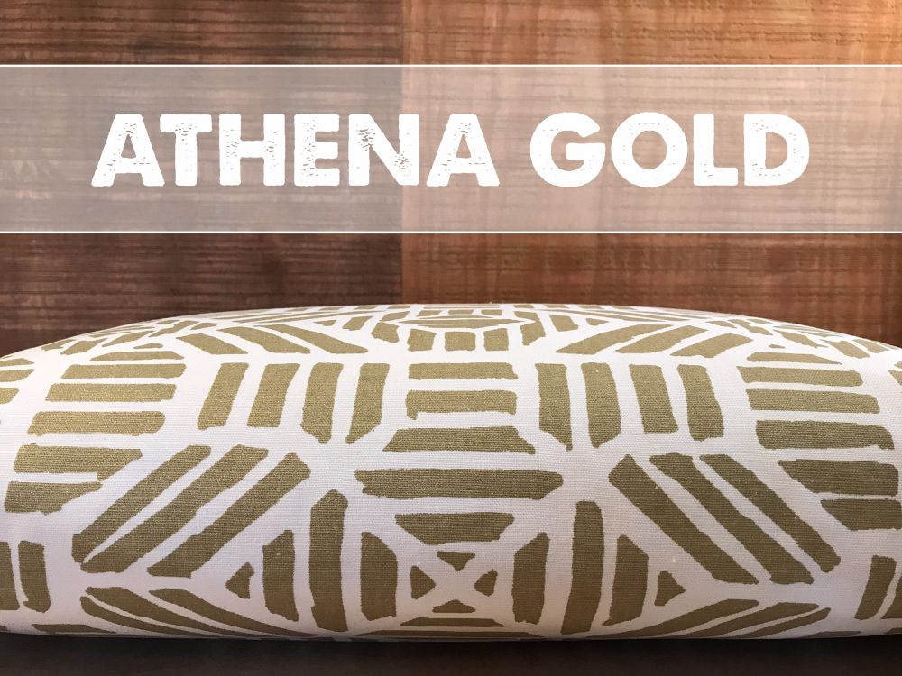 Athena Gold Metallic Dog Bed Cover