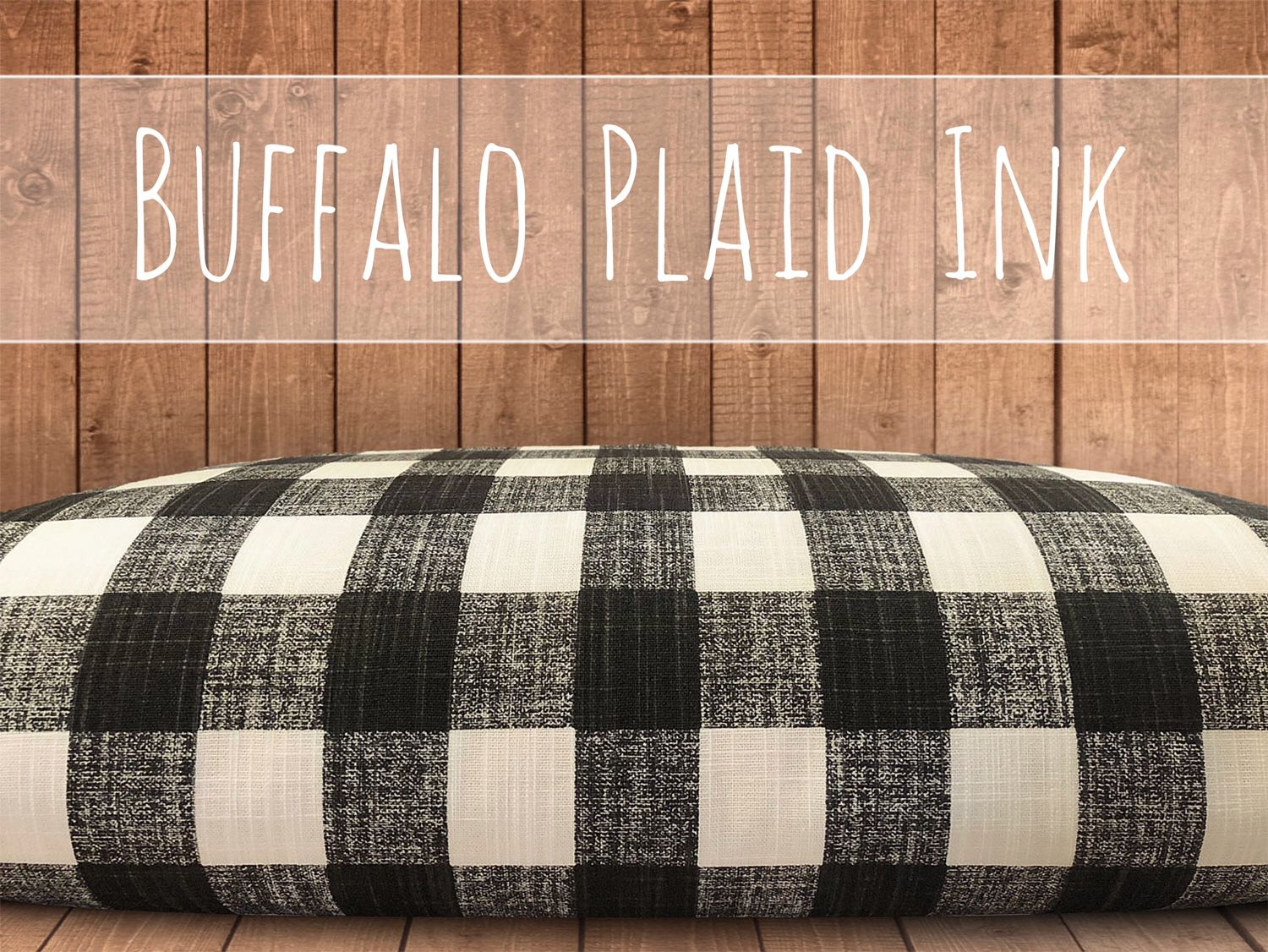 Buffalo Check Dog Bed Cover