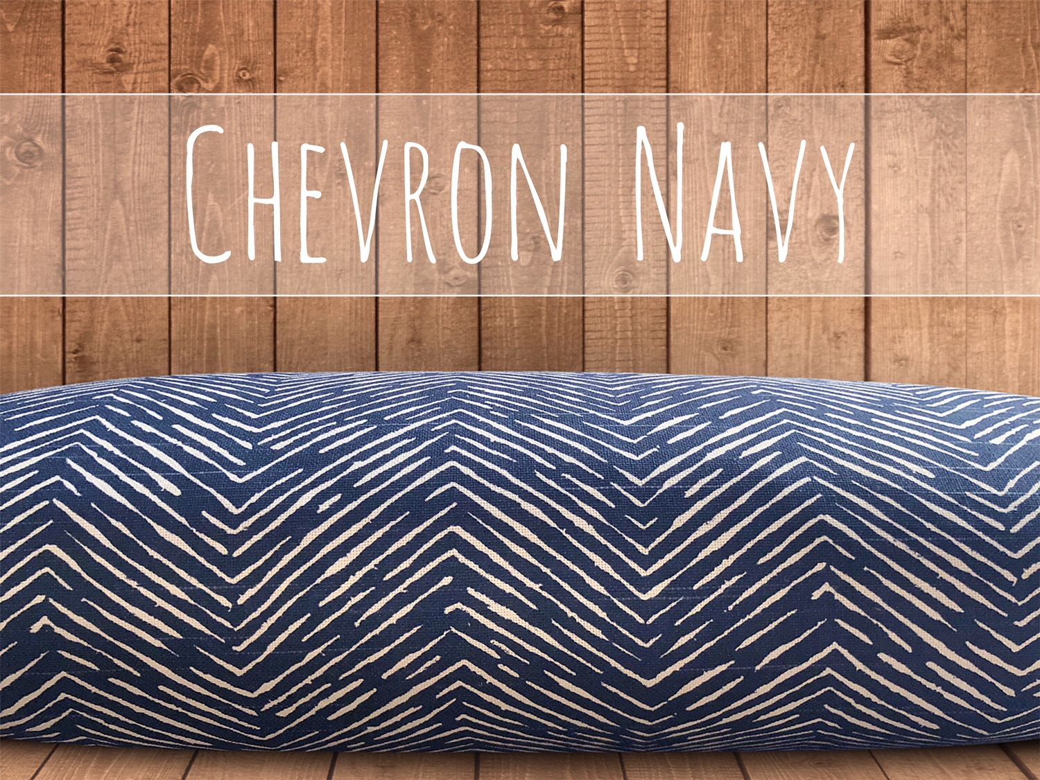 Chevron Navy Dog Bed Cover