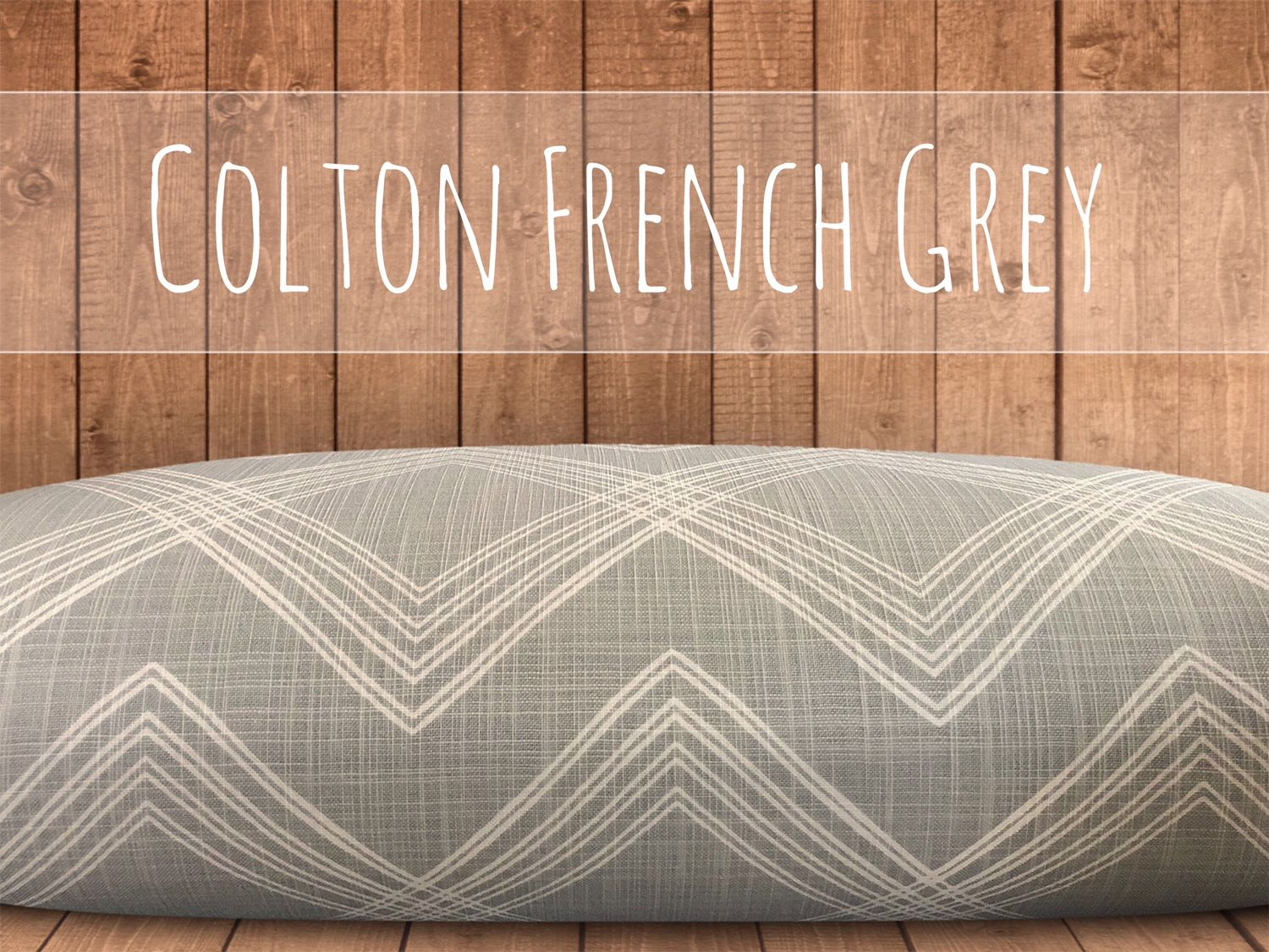 French Grey Dog Bed Cover