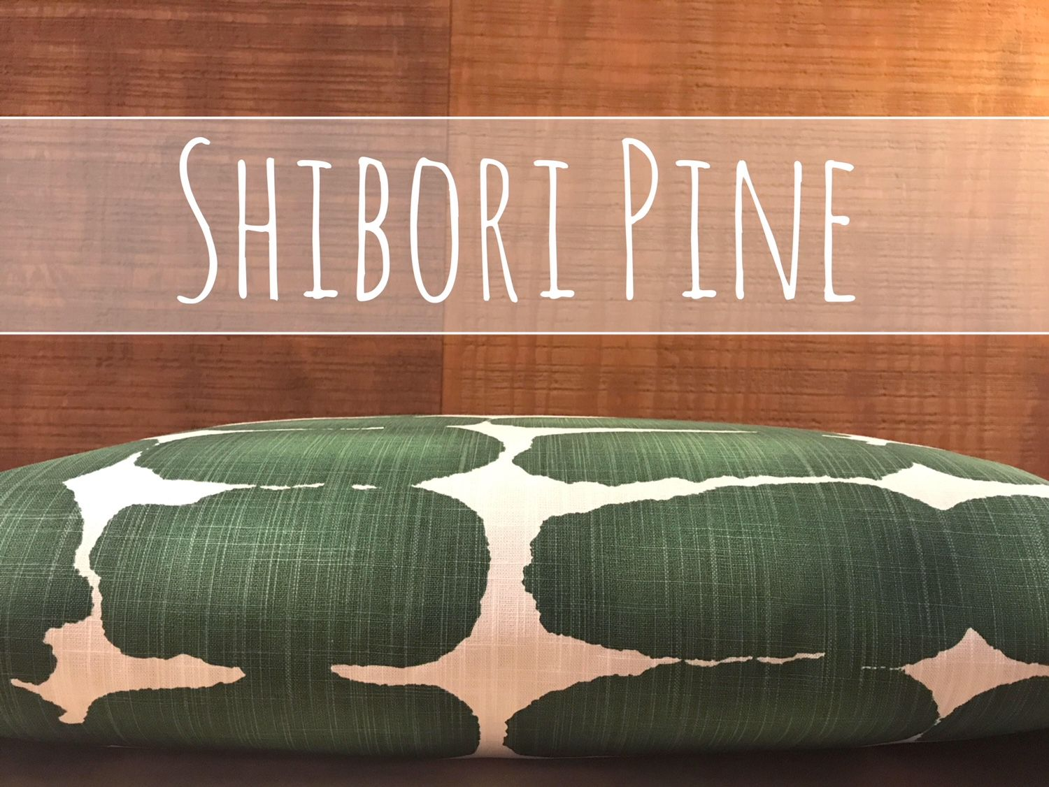 Shibori Dog Bed Cover