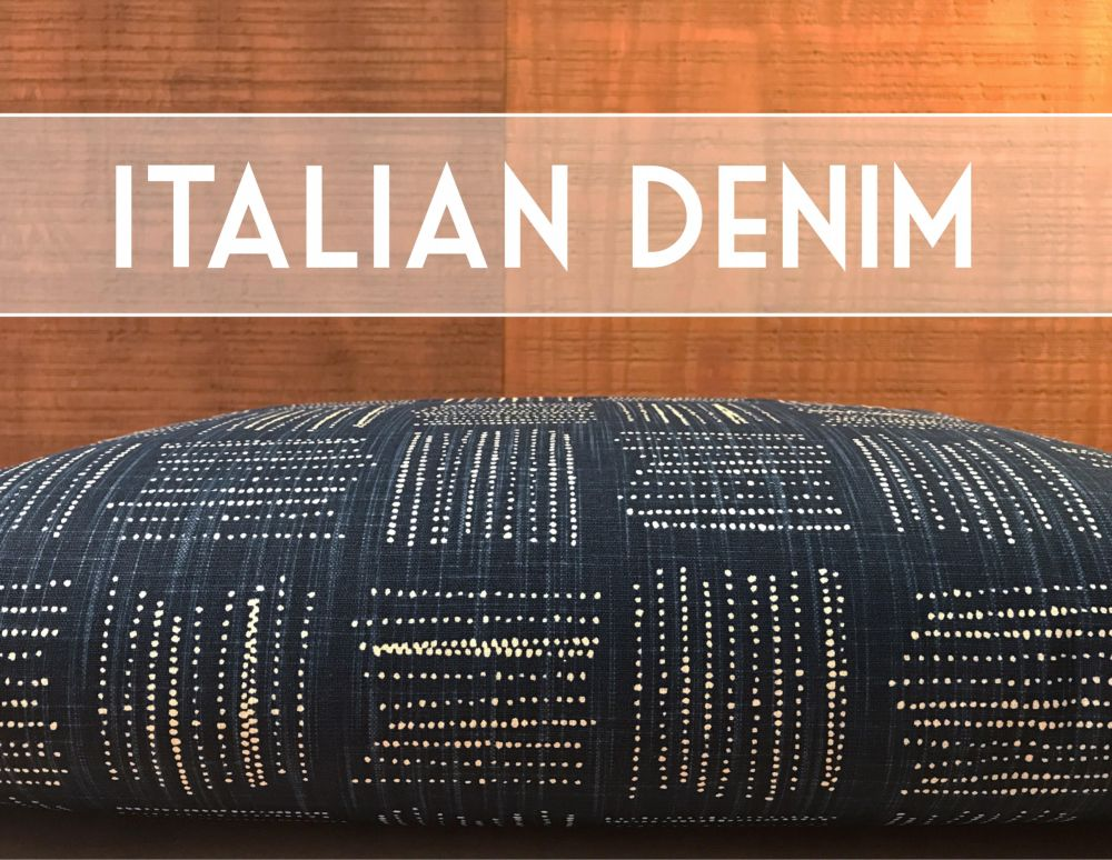 Italian Denim Dog Bed Cover